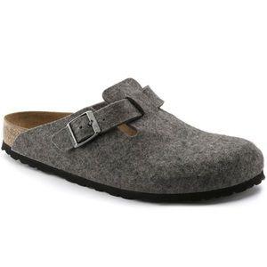 Birkenstock Boston Wool Felt Clog Anthracite